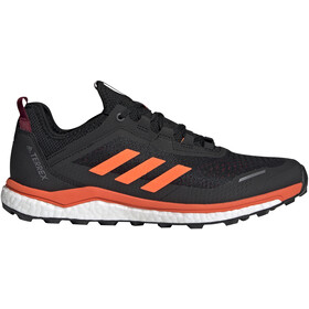 adidas TERREX Agravic Flow Low-Cut Shoes Men collegiate burgundy/solar orange/core black